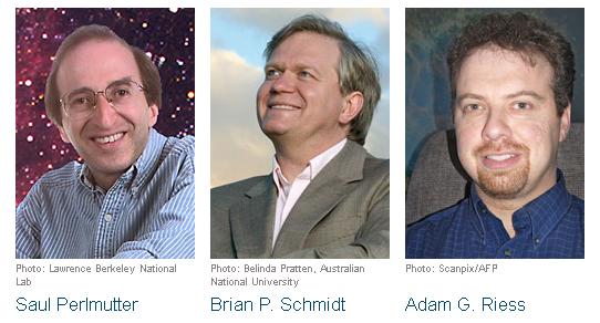 2011 nobel fizik ödülünü kazanan astrofiikçiler