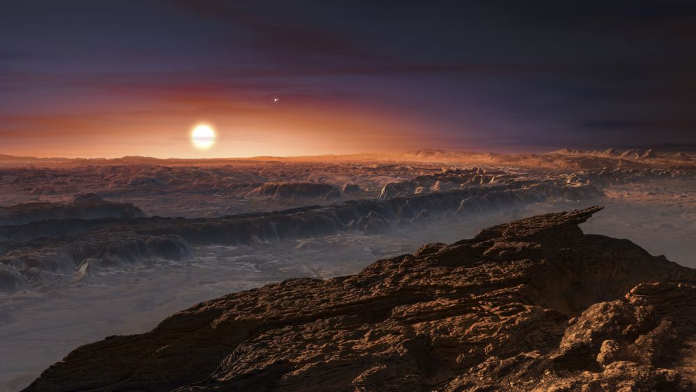 A view of the surface of the planet Proxima b orbiting the red dwarf star Proxima Centauri, the closest star to our Solar System, is seen in an undated artist's impression released by the European Southern Observatory August 24, 2016. ESO/M. Kornmesser/Handout via Reuters THIS IMAGE HAS BEEN SUPPLIED BY A THIRD PARTY. IT IS DISTRIBUTED, EXACTLY AS RECEIVED BY REUTERS, AS A SERVICE TO CLIENTS. FOR EDITORIAL USE ONLY. NOT FOR SALE FOR MARKETING OR ADVERTISING CAMPAIGNS - RTX2MW7L