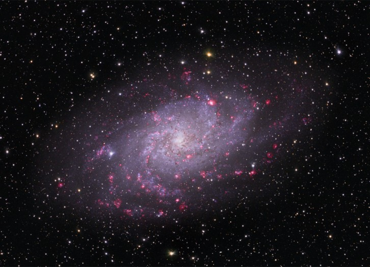 Triangulum constellation and galaxy (M33) - image m33_triangulum on https://universegap.com