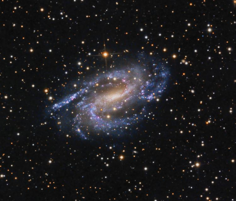 Triangulum constellation and galaxy (M33) - image on https://universegap.com